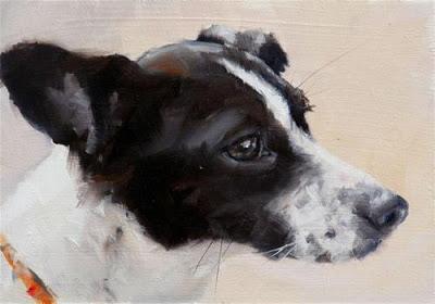 pintura-homenagem-meu-cachorro-amor-emoldurado